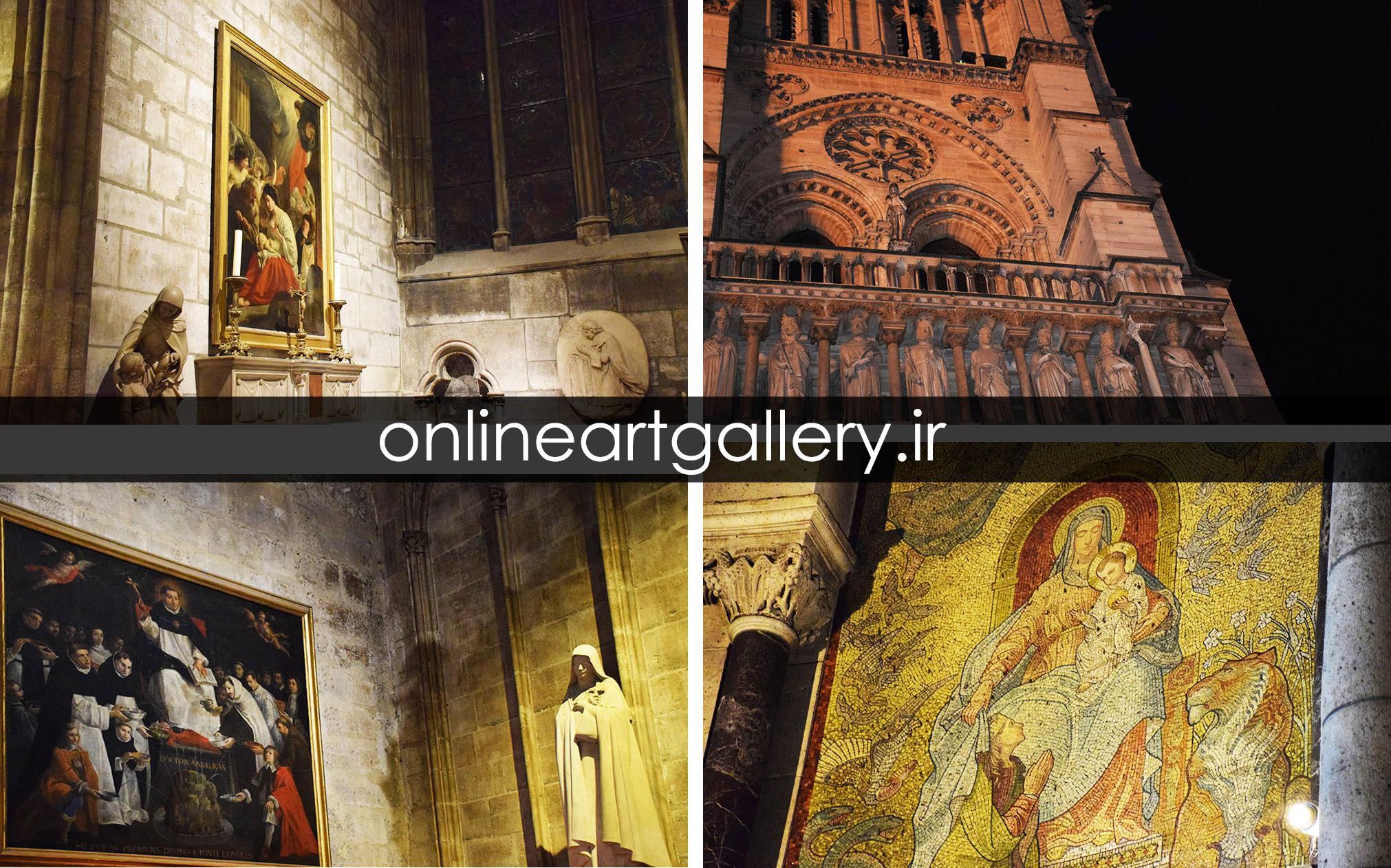 گزارش تصویری از آثار هنری و فضای داخلی کلیسای نوتردام پاریس (بخش دوم)