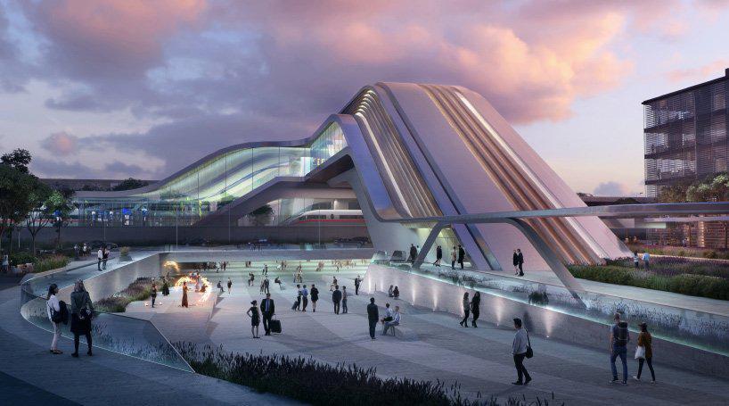 معماران zaha hadid از ایستگاه راه اهن tallinn رونمایی میکنند