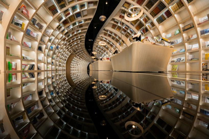 نگاهی به طراحی متفاوت کتابخانه در چین